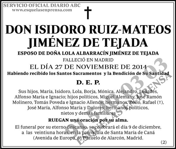 Isidoro Ruiz-Mateos Jiménez de Tejada